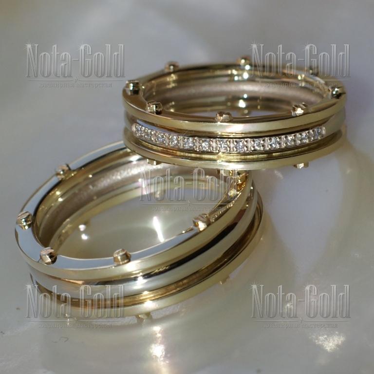 Парные эксклюзивные обручальные кольца