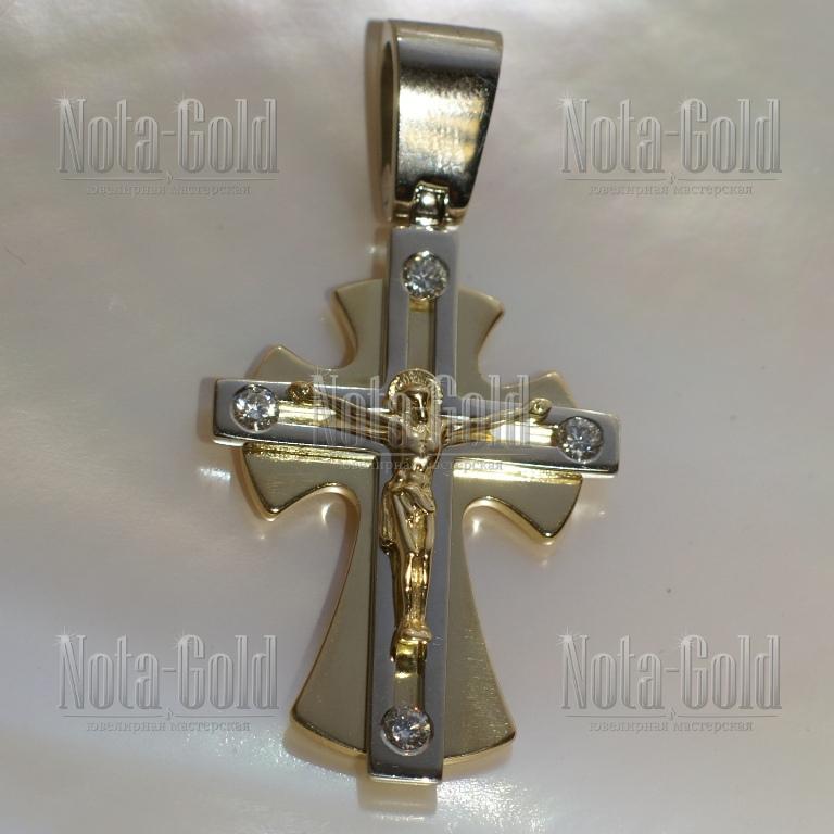 Крест из золота с бриллиантами