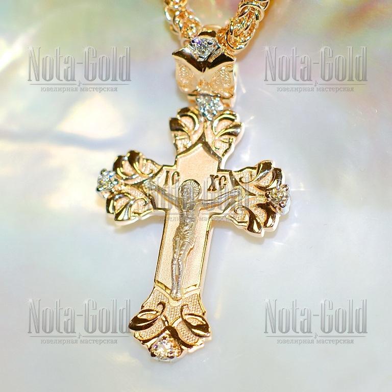 мужской золотой крест изготовление на заказ