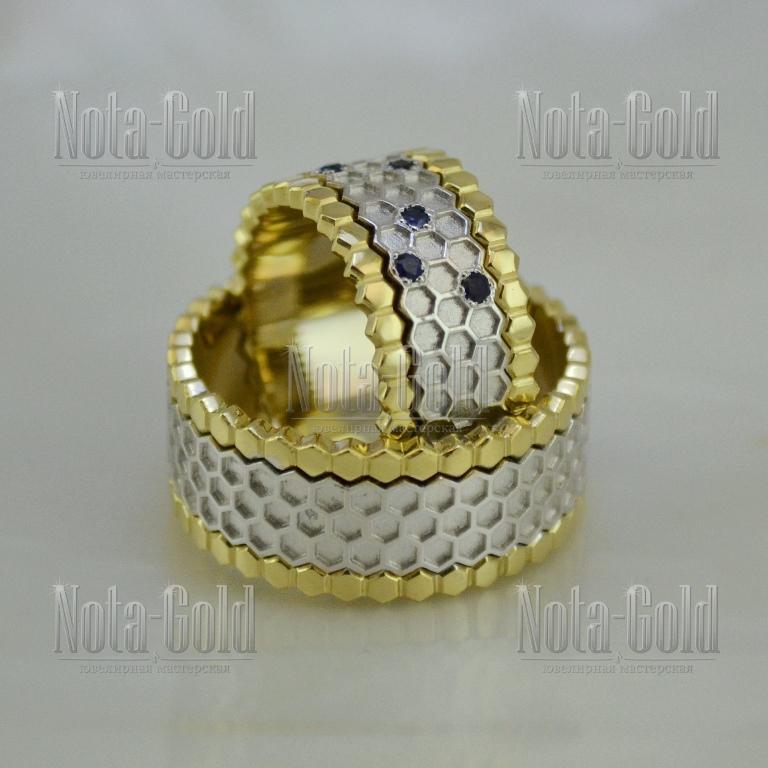 Обручальные кольца с отпечатком пальца