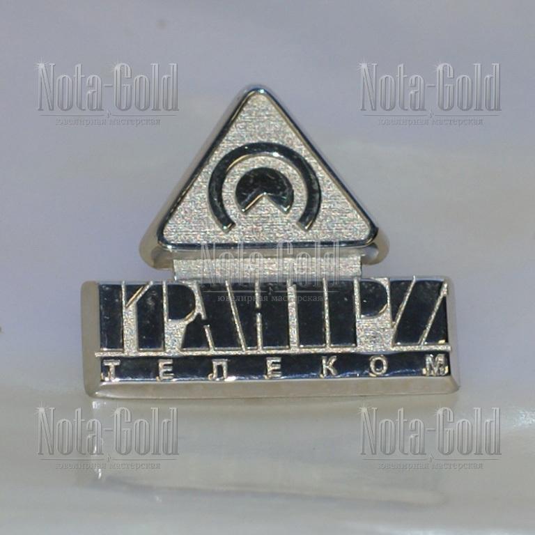 Серебряные значки с родированием