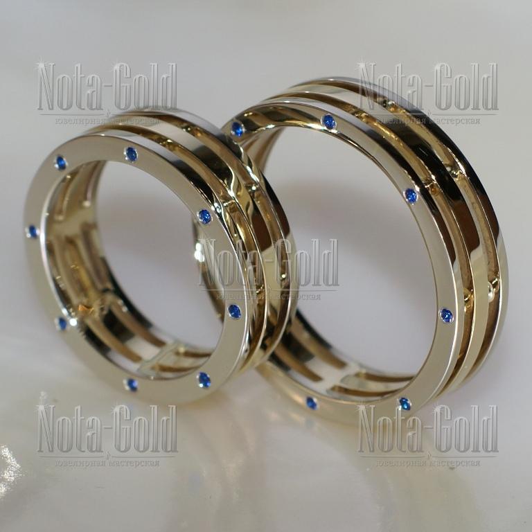 Эксклюзивные обручальные кольца на заказ с сапфирами
