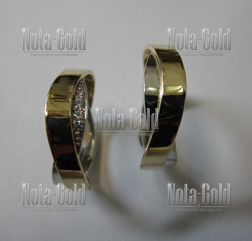 Обручальные кольца бесконечность
