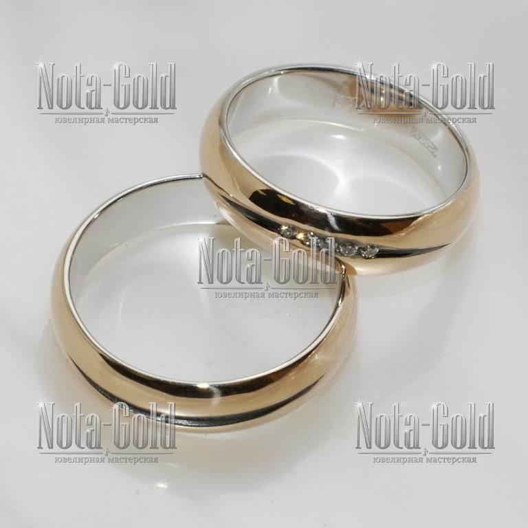 Обручальные кольца с чернением