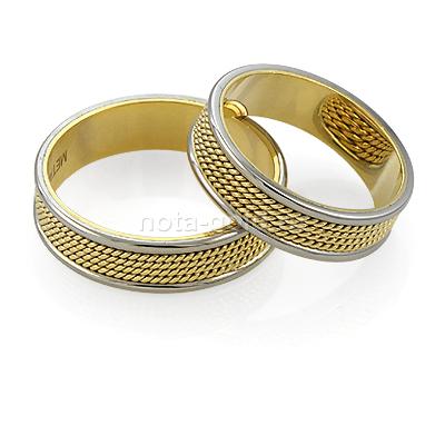 Обручальные кольца с плетениемф