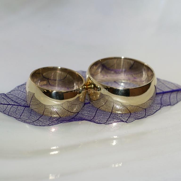 Обручальные кольца классические