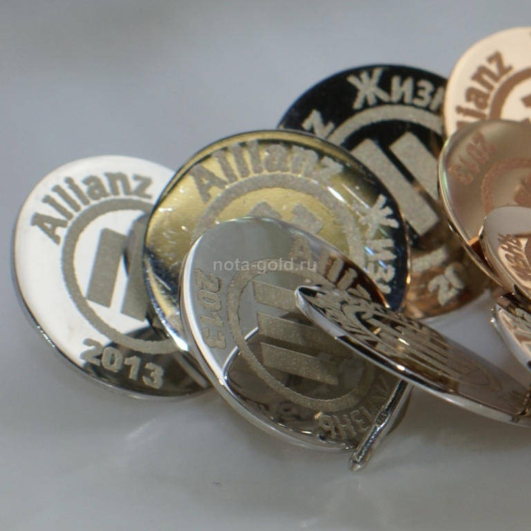 Значки из золота и значки из серебра на заказ