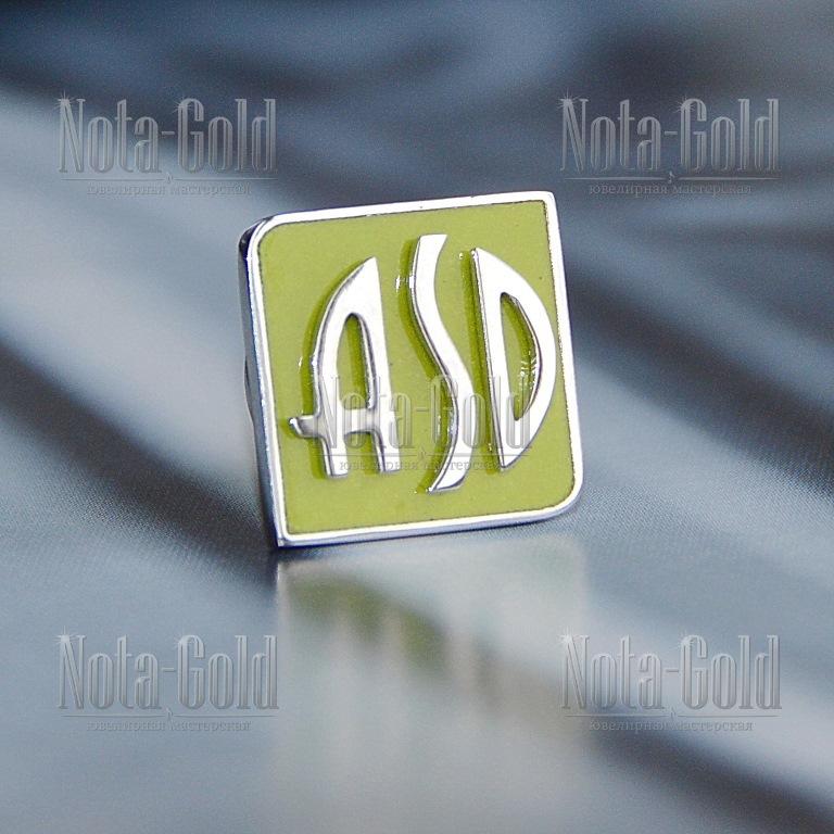 корпоративные золотые значки с логотипом